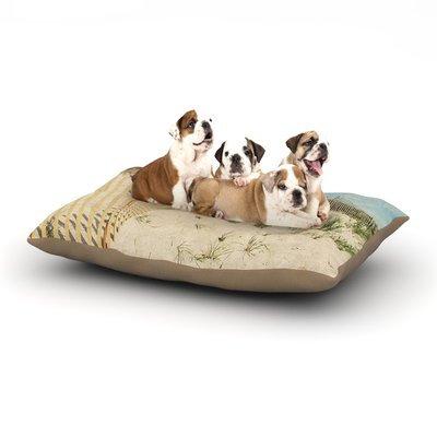 East Urban Home Jillian Audrey 'Cape Dunes' Dog Pillow with Fleece Cozy Top Size: Small (40