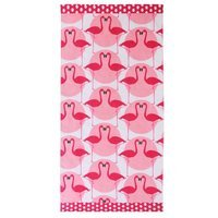 Clairebella Flamingo 100% Cotton Beach Towel