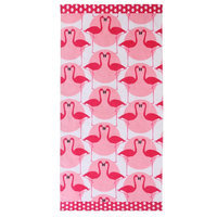Clairebella Flamingo 100% Cotton Beach Towel