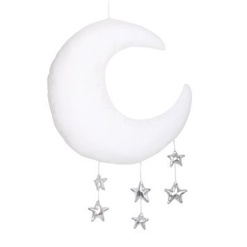 The Peanut Shell Moon and Star Ceiling Mobile
