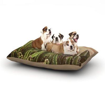 East Urban Home Jillian Audrey 'Green Grass Cactus' Dog Pillow with Fleece Cozy Top Size: Small (40