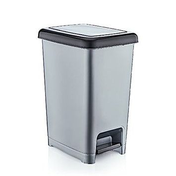 Superior Performance Slim Pedal Step on Trash Can Color: Gray
