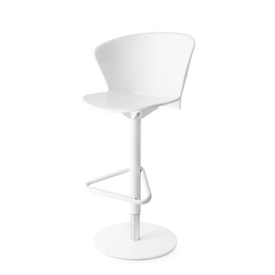 Calligaris Bahia - Swivel stool Finish: Matt Optic White