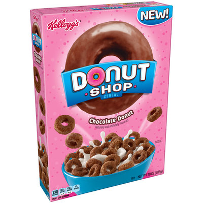 Kellogg's® Chocolate Donut Donut Shop Cereal 10 oz. Box