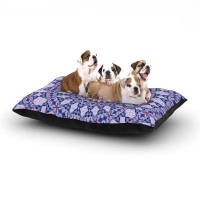 East Urban Home Iris Lehnhardt 'Kaleidoscope Blue' Circle Dog Pillow with Fleece Cozy Top Size: Large (50