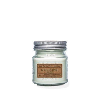 Ecocandleco Lemongrass Sage Soy Mason Jar Candle
