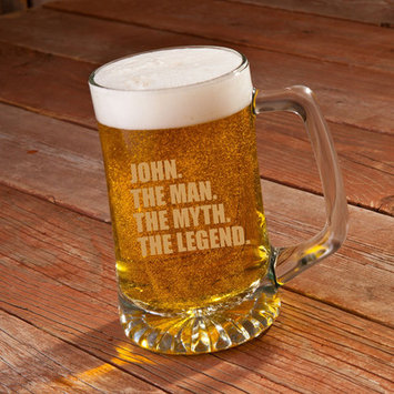 Jds Personalized Gifts The Man/The Myth/The Legend 25 Oz. Beer Glass