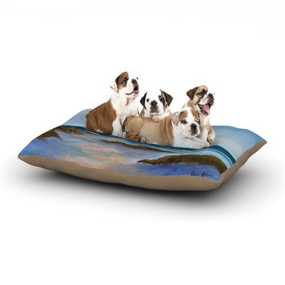 East Urban Home Rosie Brown 'Wet Sand' Beach View Dog Pillow with Fleece Cozy Top Size: Large (50