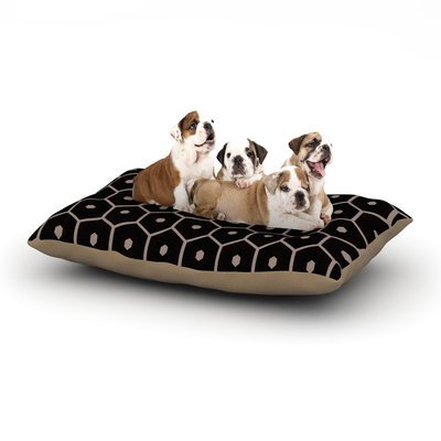 East Urban Home Budi Kwan 'Tiled Mono' Dog Pillow with Fleece Cozy Top Size: Large (50
