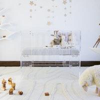 Vetro Clear Acrylic Mini Crib by Nursery Works
