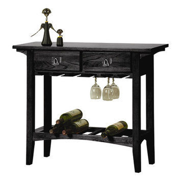 Charlton Home Apple Valley 10 Bottle Floor Wine Rack Finish: Slate