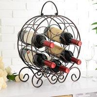 Charlton Home Archer Metal 4 Bottle Tabletop Wine Bottle Rack
