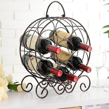 Charlton Home Archer Metal 4 Bottle Tabletop Wine Bottle Rack