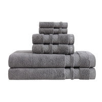 Vince Camuto Zero Twist 6 Piece Towel Set Color: Frost Gray