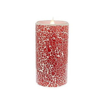 Bloomsbury Market Crackled Mosaic Virtual Flame Unscented Flameless Candle Size: 6