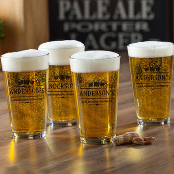Jds Personalized Gifts 3 Beers Personalized 16 oz. Pub Glass