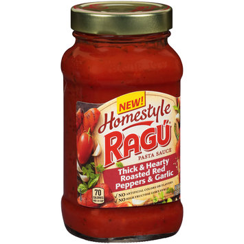 Ragu® Homestyle Thick & Hearty Roasted Red Peppers & Garlic Pasta Sauce 23 oz. Jar