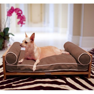 Pet Lounge Studios Daybed Cushion Dog Sofa Color: Passionfruit Pink