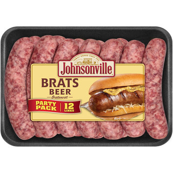 Johnsonville Beer Brats 2.85lb Party Pack tray