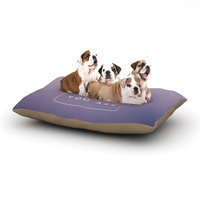 East Urban Home Galaxy Eyes 'Wake Up' Dog Pillow with Fleece Cozy Top Size: Small (40