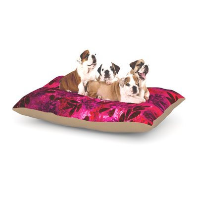 East Urban Home Ebi Emporium 'Grunge Flowers IV' Dog Pillow with Fleece Cozy Top Size: Large (50