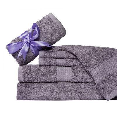 Aspire Linens Supersoft 6 Piece Towel Set Color: Purple