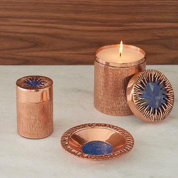 World Menagerie Decorative Bowl Color: Copper/Lapis