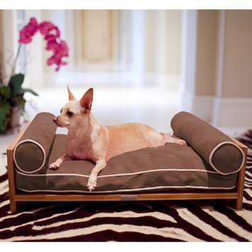 Pet Lounge Studios Daybed Cushion Dog Sofa Color: Tango Orange