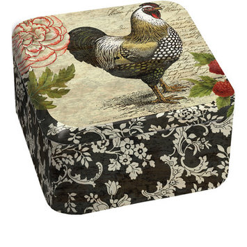 Lang French Rooster Tin Candle