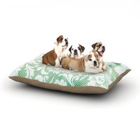 East Urban Home Heidi Jennings 'Daydreaming' Floral Dog Pillow with Fleece Cozy Top Size: Small (40