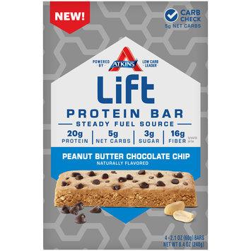 Atkins® Lift Peanut Butter Chocolate Chip  Protein Bar 4-2.1 oz. Bars