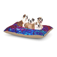 East Urban Home Ebi Emporium 'Eternal Tide' Dog Pillow with Fleece Cozy Top Size: Small (40