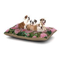 East Urban Home Sylvia Cook 'The Fairy Rose' Floral Dog Pillow with Fleece Cozy Top Size: Large (50