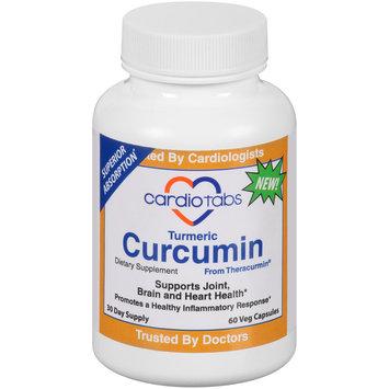 CardioTabs® Turmeric Curcumin Dietary Supplement Veg Capsules 60 ct Bottle