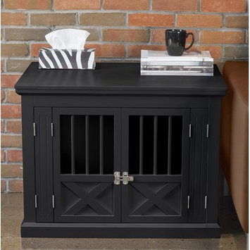 Merry Products Triple Door Pet Crate Color: Black