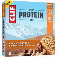 Clif® Peanut Butter & Chocolate Whey Protein Bars 5-1.98 oz. Bars