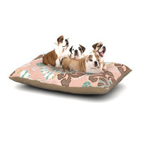 East Urban Home Very Sarie 'Sea Carnival' Dog Pillow with Fleece Cozy Top Size: Large (50
