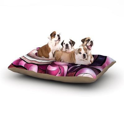 East Urban Home Mandie Manzano 'Chesire Cat' Dog Pillow with Fleece Cozy Top Size: Large (50