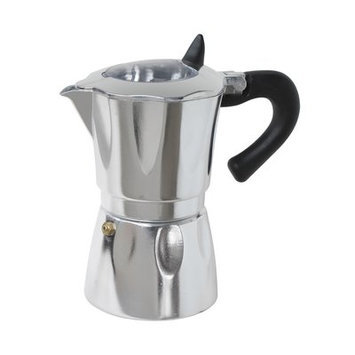 Cuisinox Aluminum Espresso Coffee Maker with Window Size: 3 Cup