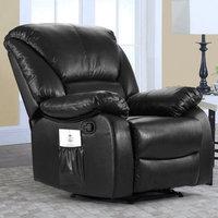 Alcott Hill Full Body Recliner Massage Chair Upholstery: Black