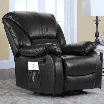 Alcott Hill Full Body Recliner Massage Chair Upholstery: Black