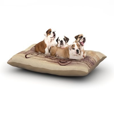 East Urban Home Jillian Audrey 'The Gray Bicycle' Photography Dog Pillow with Fleece Cozy Top Size: Small (40