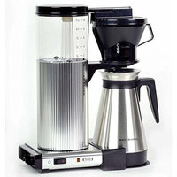 Moccamaster CDGT Pour-Over Coffee Brewer Color: Brushed Silver, Size: 15.25
