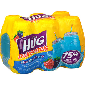 little hug® fruit barrels® blue raspberry fruit drinks