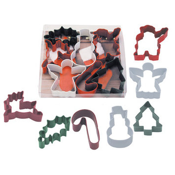 R & M International R & M Christmas Holly 7pc Cookie Cutter Set
