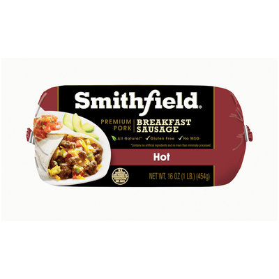 Smithfield® Hot Premium Pork Breakfast Sausage Roll