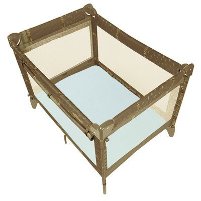 Viv + Rae Talon Organic Jersey Fitted Play Pen Sheet Color: Blue