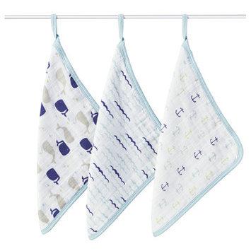 Aden + Anais High Seas 3 Piece Washcloth Set