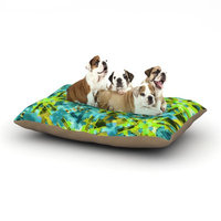 East Urban Home Michael Sussna 'Pollenesia' Dog Pillow with Fleece Cozy Top Size: Small (40