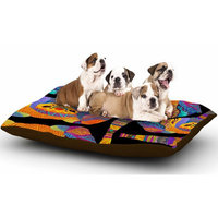 East Urban Home Pom Graphic Design 'The Elephant in the Room' Tribal Dog Pillow with Fleece Cozy Top